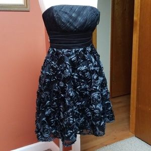 White House Black Market black prom dress